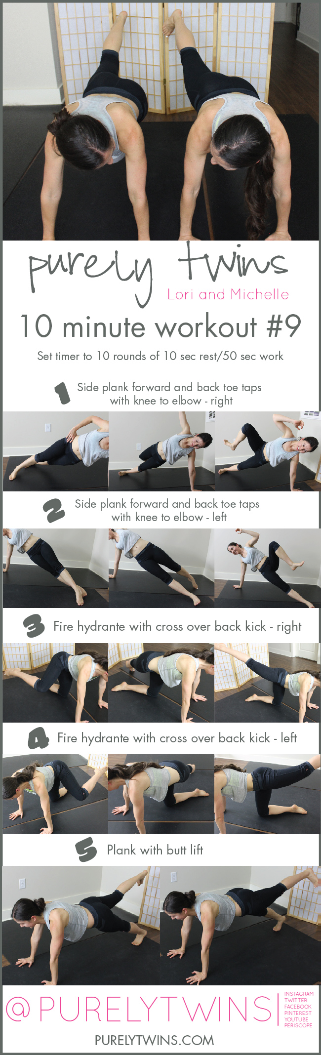 Ab and butt workout. Tone and tighten your core and butt in 10 minutes