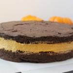 Protein pumpkin fudge oreo cake. Low sugar. Egg and grain free.