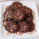 chocolate peppermint candy cane cookies