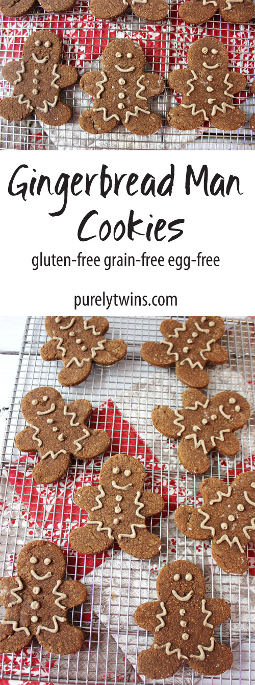 The BEST recipe for softy chewy gingerbread cookies. A new family favorite recipe that you will love as it's made from just a few simple and healthy ingredients. The perfect little gingerbread men cookies. || purelytwins.com