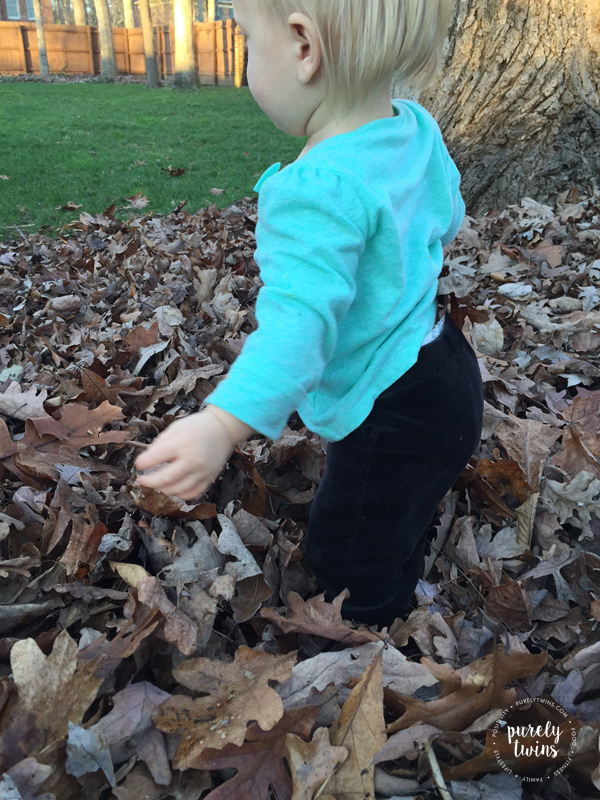 Letting our kids play outside in the dirt and leaves is so important.