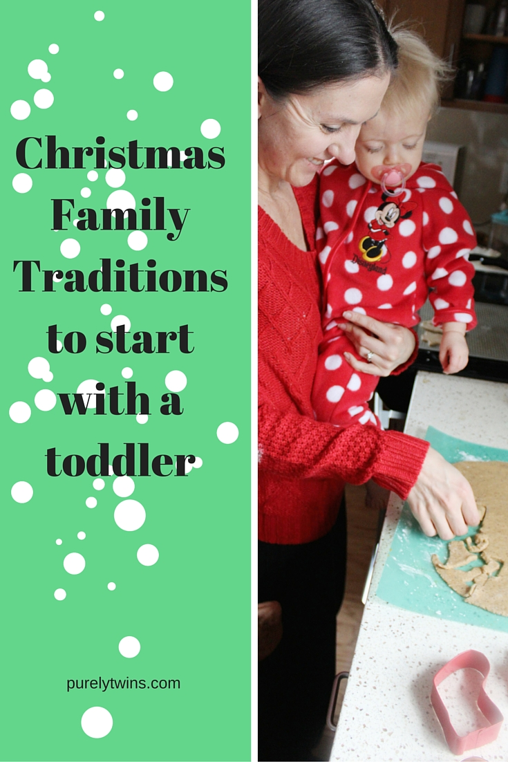 Great ideas for fun family Christmas traditions to do with a toddler. Perfect time to start new family traditions on Christmas with this Night Before Christmas, making and eating Santa's cookies and more.