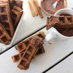 gingerbread waffle sticks with mocha hot chocolate dip