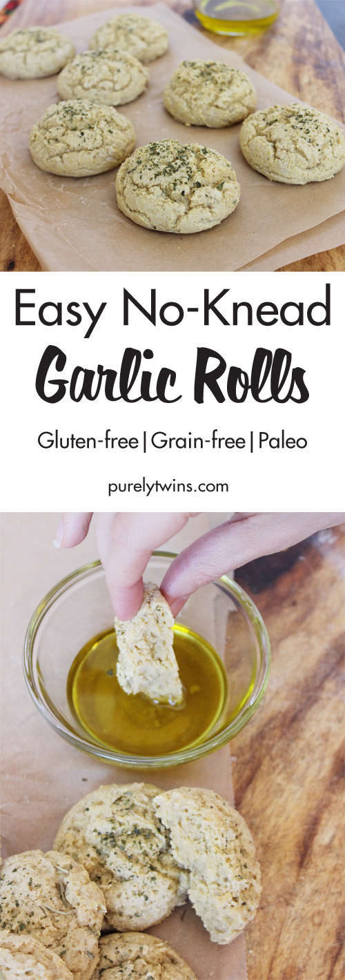 Gluten Free Garlic Dinner Roll recipe that is a great savory side and can be made in just 15 minutes. Easy to follow recipe. No kneading needed. Made with a secret ingredient.