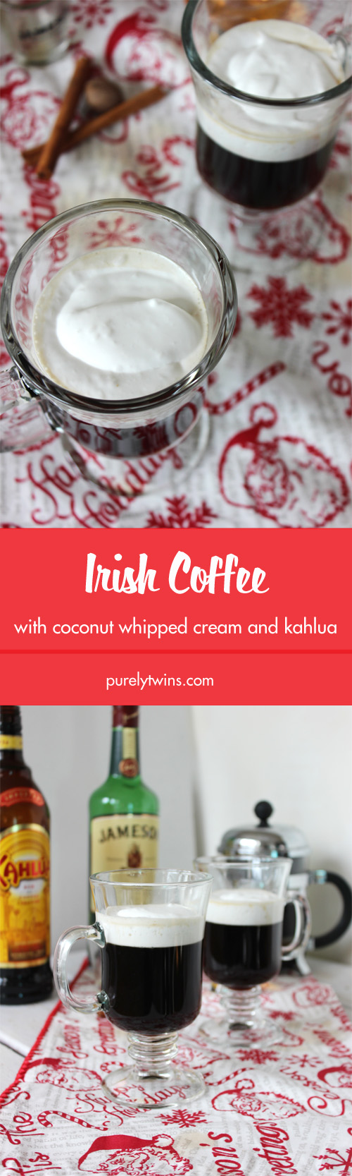 We made this Irish Coffee Creme with kahlua in just 10 minutes! The addition of kahlua instead of brown sugar was the bomb!  This drink recipe will warm your soul.