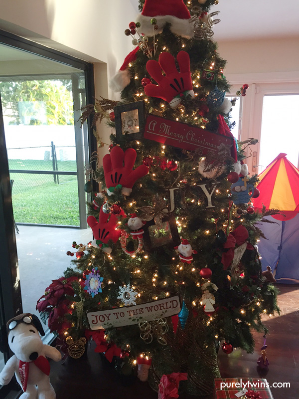 Red Mickey Mouse tree.