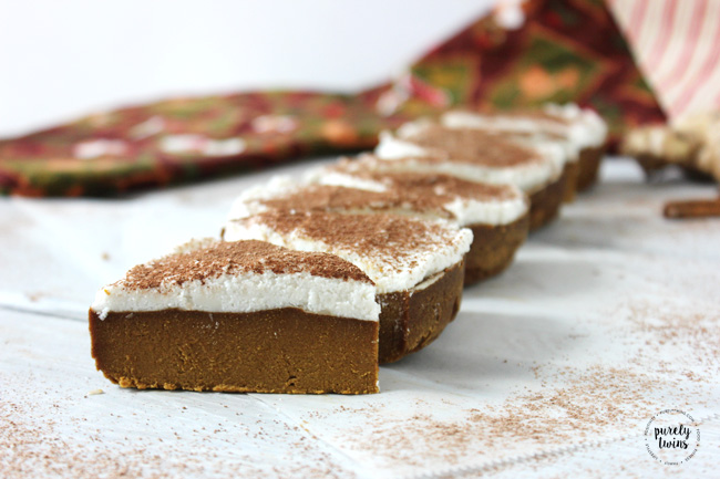 gingerbread fudge with coconut whipped cream