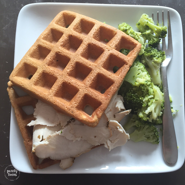 Paleo plantain waffles make great base for a quick and healthy real foods lunch. What to eat for lunch issues solved.