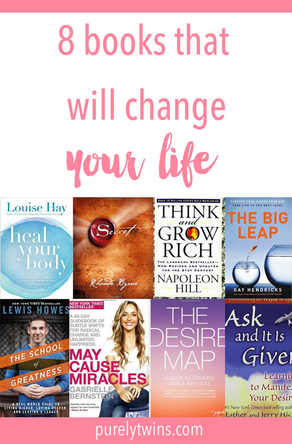 8 Books That Will Totally Change Your Mindset and Life - Need some inspiration? Want to adjust your mindset? Catch yourself going back to old habits and not moving forward in life? Not getting what you want in life? Here is the list of books that will change your life and get on the road to success as they did for us!