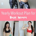 December workout schedule + 12 month workout plan for busy women