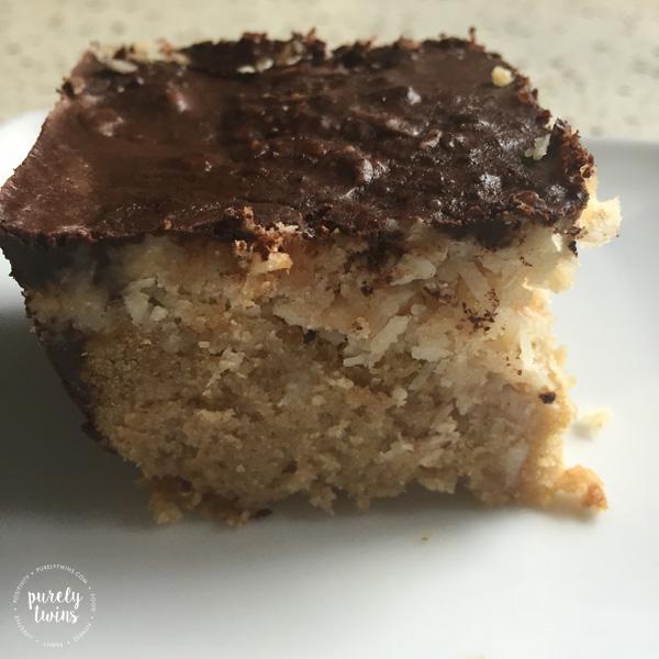 Gluten free paleo samoa bars