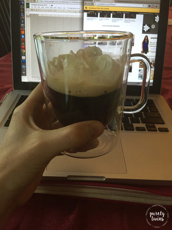 Sipping on Irish coffee while i work