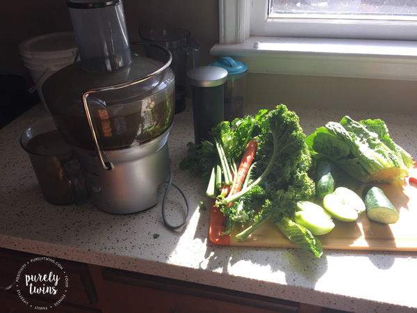 Juicing veggies breville juicer