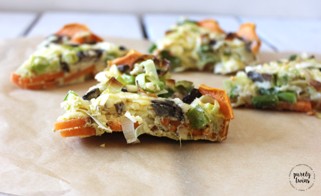 yummy quick and easy family dinner. Sweet potato crusted veggie quiche ...
