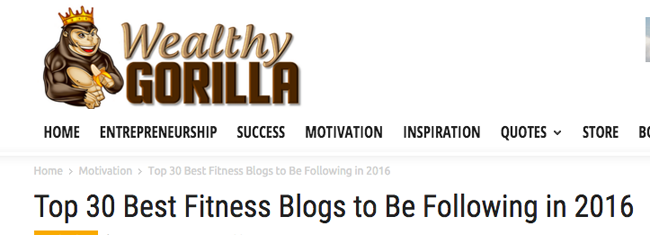 Top 30 Best Fitness Blogs to Be Following in 2016
