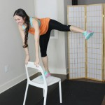 Favorite lower body & core exercises using a chair
