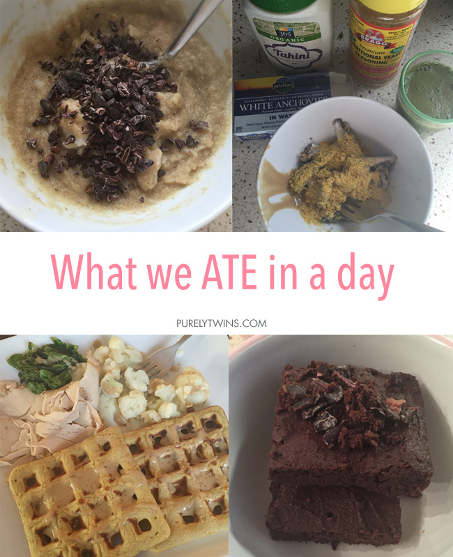 What we ate in a day! Sharing our daily eats to inspire you in the kitchen. We love having a flexible approach to eating and working out!