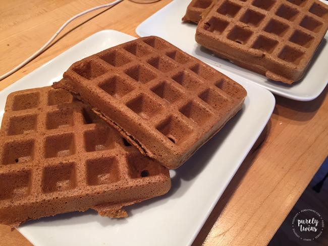 Gingerbread paleo waffles