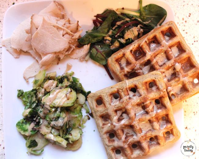Plantain waffle dinner