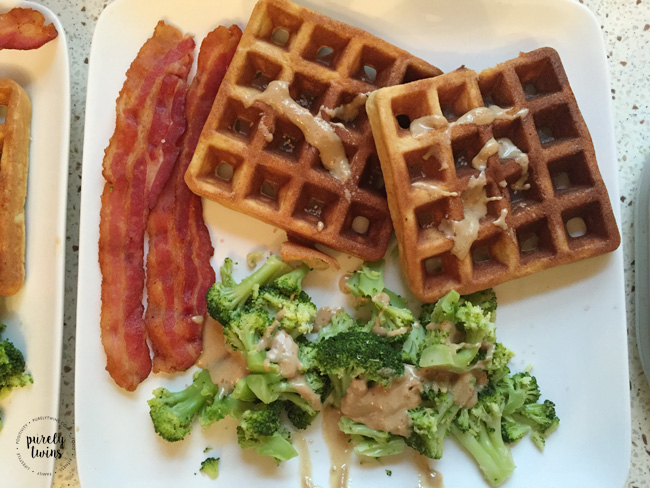 plantain-waffles-bacon-broccoli-for-diner