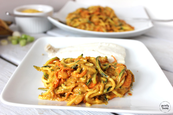 Creamy plantain veggie pasta