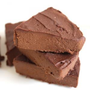 4 ingredient high fat chocolate fudge