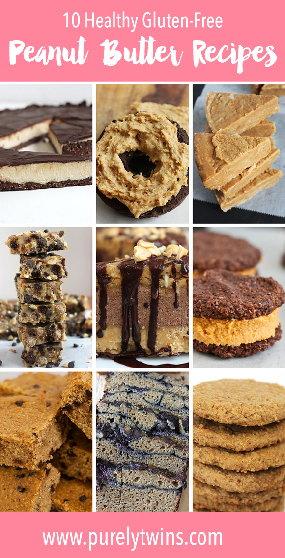 Calling all PEANUT BUTTER lovers!! If you love peanut butter and eat gluten-free here are 10 delicious and healthy recipes for you to enjoy. Many of these recipes are grain-free, dairy-free and egg-free, and some require no baking!!