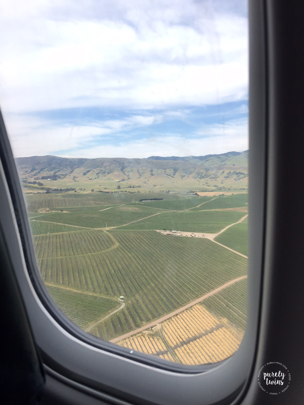 Landing in California wine country our new home.