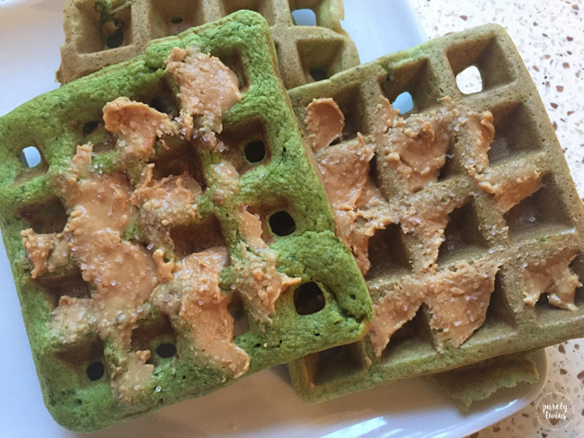 green-plantain-waffles-peanut-butter