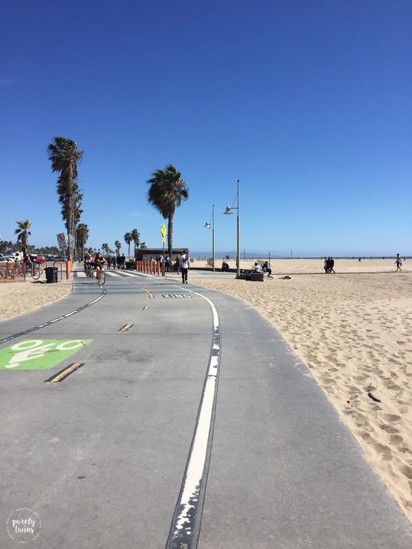 walking-santa-monica-beach