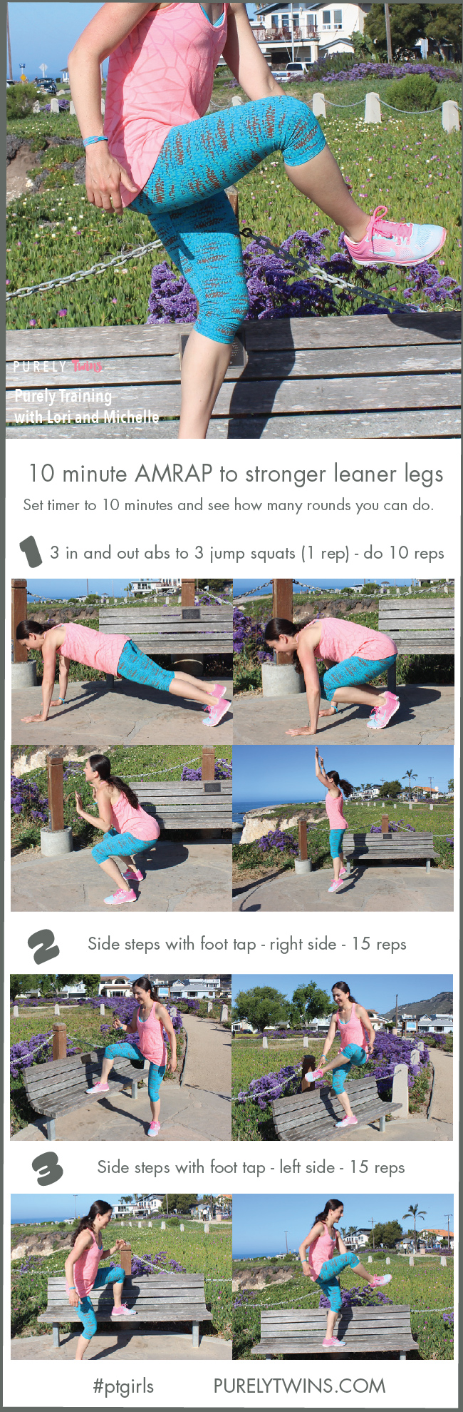 Ladies are you ready to get stronger leaner legs? This new workout is only 10 minutes. A bodyweight workout you can do anywhere including outside! Next time you are at the park do this workout.