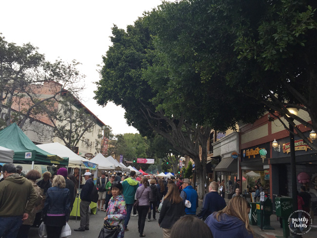 SLO farmers market downtown