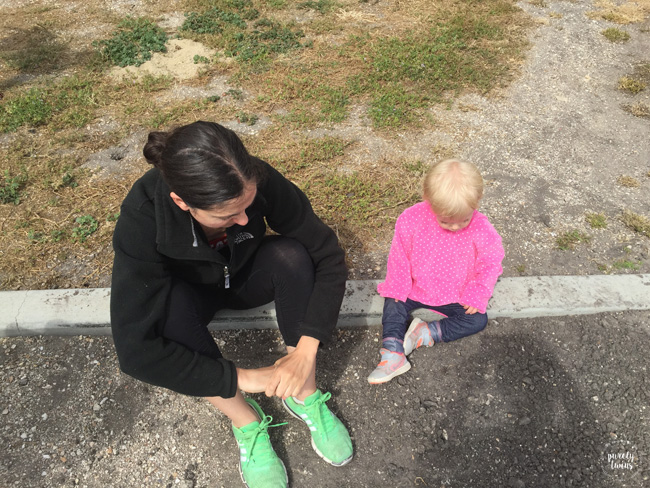 Aunt and niece sitting