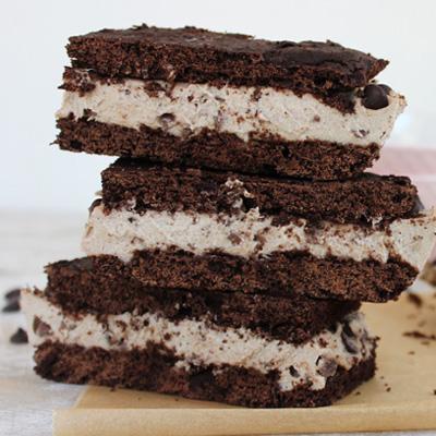Chocolate cookie dough cookie sandwiches. Paleo. Vegan.