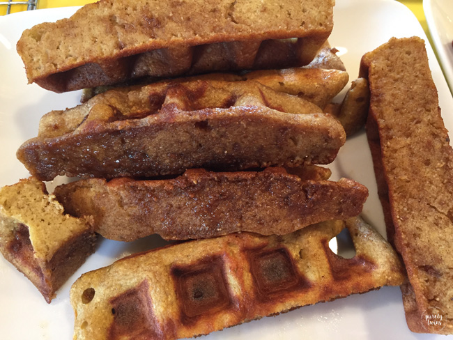 Healthy cinnamon sugar waffles