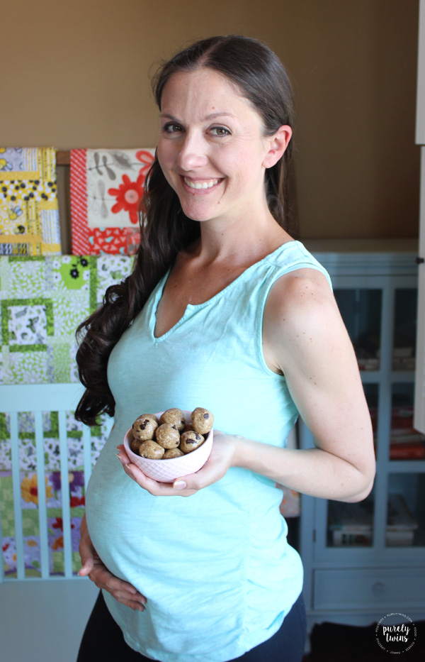High fat paleo chocolate chip oat free almond butter dough balls.