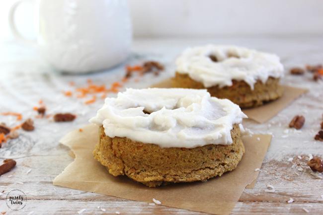 Carrot cake baked donuts. Paleo. Vegan.