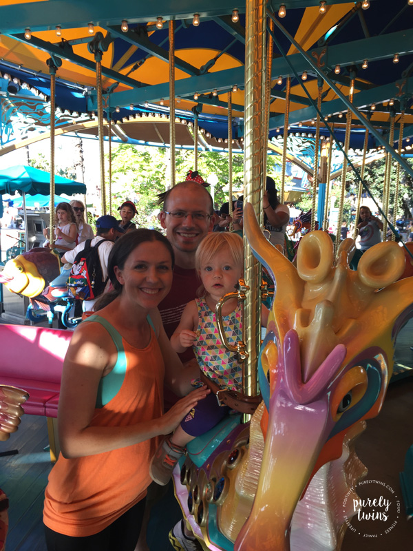 King Triton Carousel at California Adventure is a great ride for a toddler. See other great rides for young toddlers to do at Disneyland.