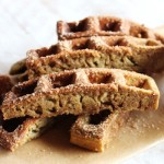 Cinnamon sugar protein waffle sticks with yogurt frosting (serves 1)