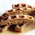 Cinnamon sugar protein waffle sticks with yogurt frosting (serves 1)
