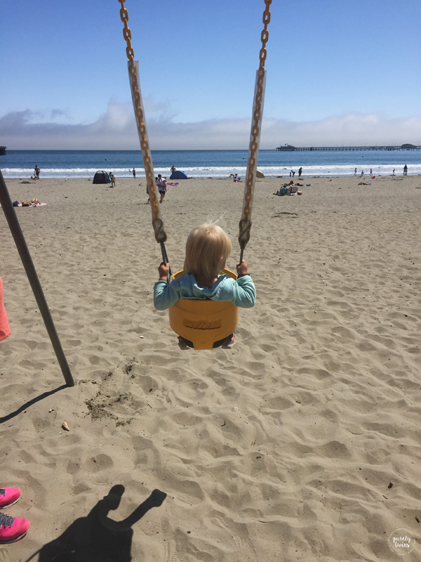 Swing set on the beach!