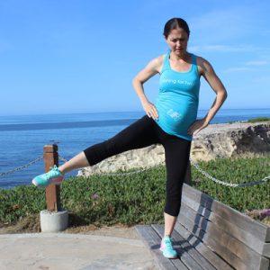 Bodyweight lower body pregnancy workout