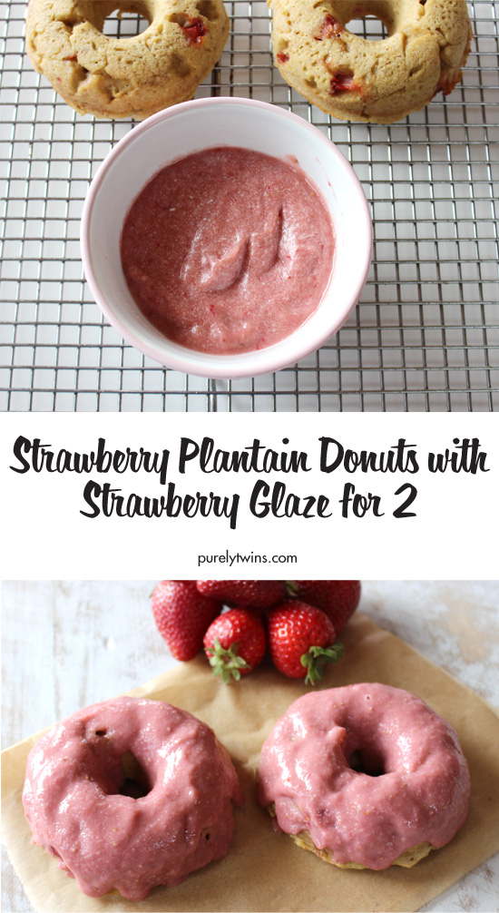 Healthy Strawberry Donuts! Click to see how to make gluten free donuts in this step by step recipe! Easy, healthy, vegan and paleo friendly! Kids and mom approved! This recipe is made with plantains and strawberries. These are so good to enjoy anytime of the day.
