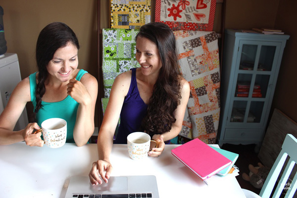 Twin sisters running an online business together