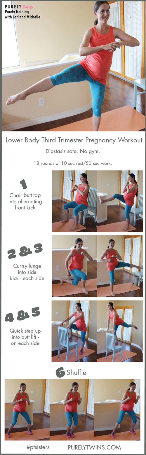 Try out this Lovely Legs Workout for a fit pregnancy! It's actually great even if you're NOT pregnant! This workout is great to do during your 3rd trimester. A workout that strengthens your core and lower body to help prepare you for labor. Give this circuit a try. Your leg day just got better. No gym required. All you need is a chair.