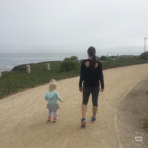 Auntie and niece walking