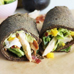 Cobb salad chia seed protein wrap recipe