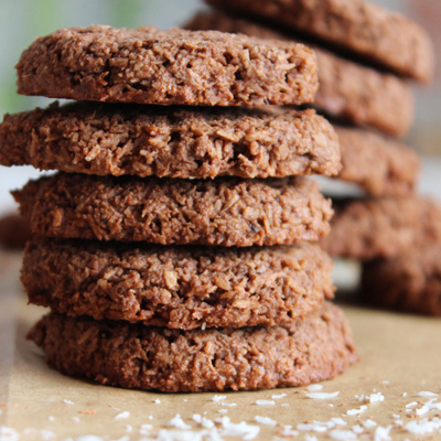 Double chocolate mint protein cookies