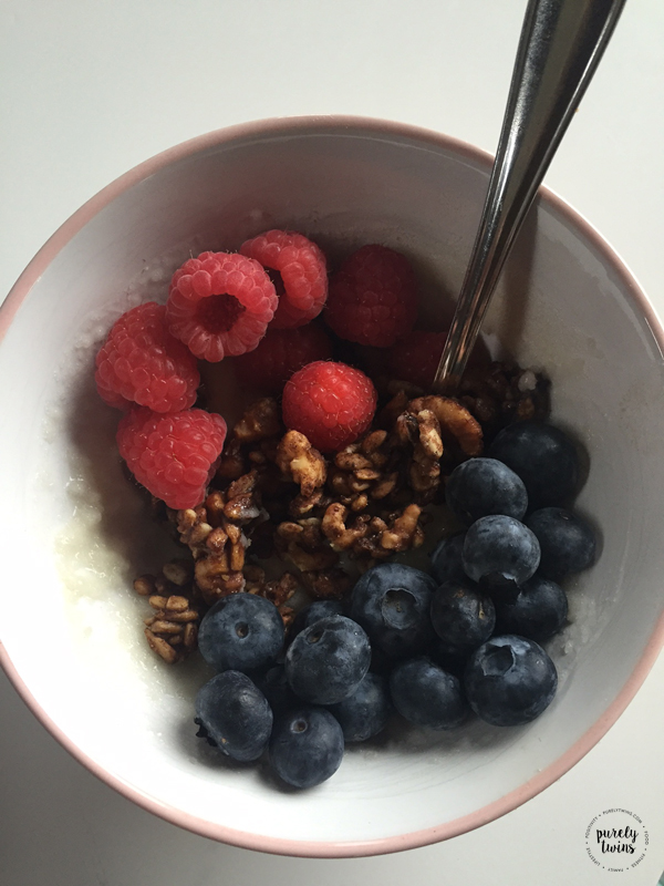 Enjoying low sugar grain-free gluten-free homemade granola