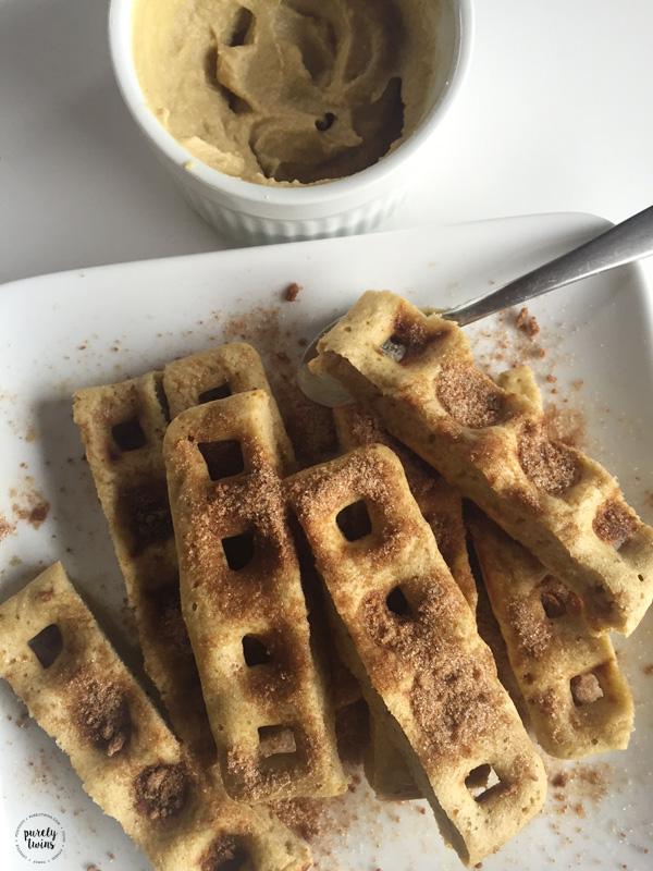 Cinnamon plantain waffles